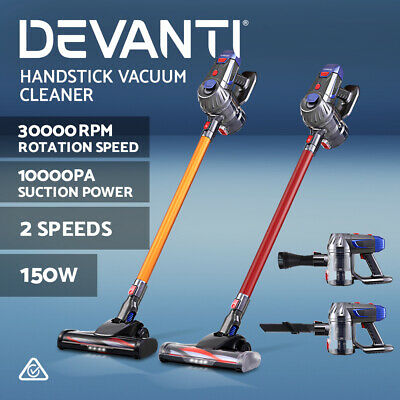 AU97.90 • Buy Devanti Handheld Vacuum Cleaner Cordless Bagless Stick Handstick Vac Recharge