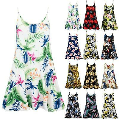 £4.90 • Buy Womens Ladies Camisole Cami Strappy Floral Printed Vest Sleeveless Swing Dress