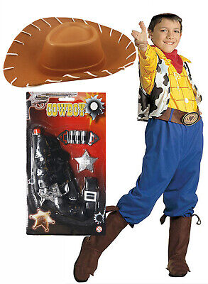 £28.89 • Buy Boys Kids Childs Woody Toy Story Billy Cowboy Fancy Dress Costume Outfit Hat Gun