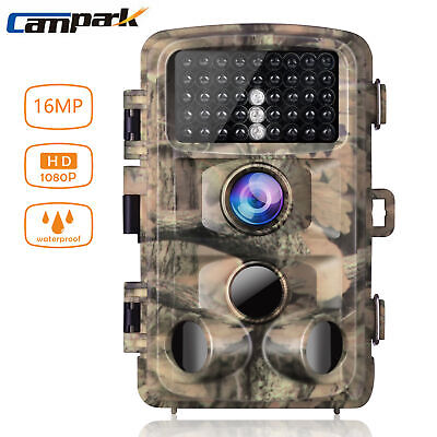 £55 • Buy Campark Trail Game Camera 16MP 1080P Hunting Scouting Cam Wildlife Monitoring UK