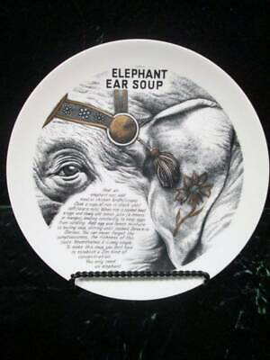 $228.97 • Buy FORNASETTI Fleming Joffe Plate Improbable Recipe Collection Elephant Ear Soup