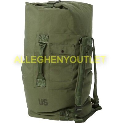 $19.65 • Buy US Military Army Duffle Sea Bag Duffel OD Nylon Top Load 2 Carry Strasp Large GC