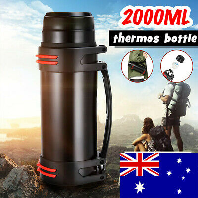 AU29.69 • Buy 2L Stainless Steel Thermos Bottle Travel Drink Mug Flask Thermal Water Insulated