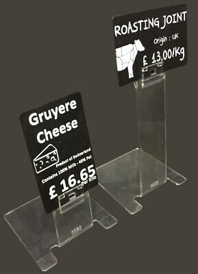 Clear Price Label Holder,Deli Counter Price • 9.50£