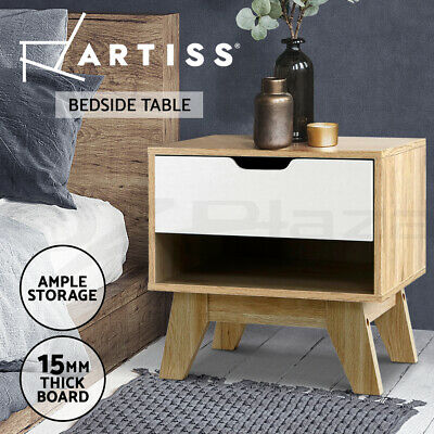 AU53.90 • Buy Artiss Bedside Tables Drawers Side Table Bedroom Furniture Nightstand Stand Lamp