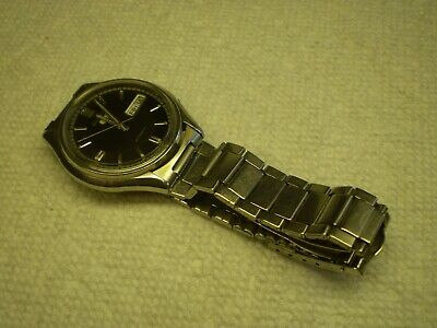 $ CDN60 • Buy Seiko 5 Mens Automatic Wrist Watch 38mm SS Bracelet Date & Day Runs Serviced