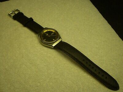 $ CDN60 • Buy Seiko 5 Mens Automatic Wrist Watch 36.5mm Leather Strap Date & Day Runs Serviced