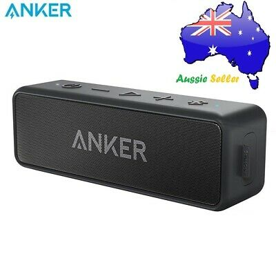 AU82.99 • Buy Anker SoundCore 2 Portable Bluetooth Speaker IPX7 12W Power - Black AU STOCK