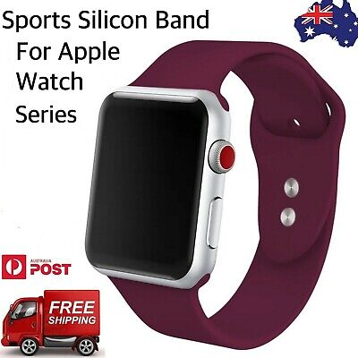 AU5.50 • Buy Apple Watch Band, Soft Sports Silicone Band For IWatch Series 4/3/2/1