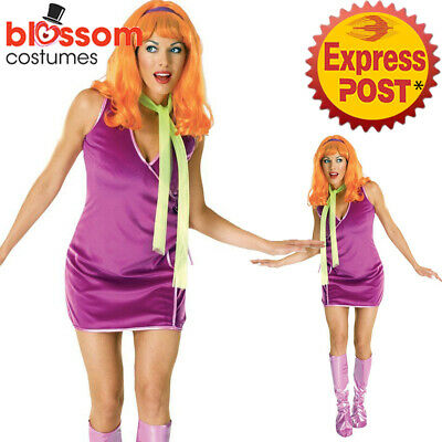 C52 Ladies Scooby-Doo Daphne Fancy Dress Adult Costume • 34.18£