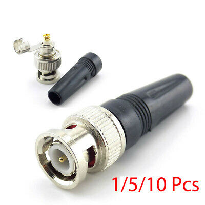AU5.29 • Buy 1/5/10 Bnc Male Connector Solderless For Twist-On Coaxial Rg59 Cable Video Balun