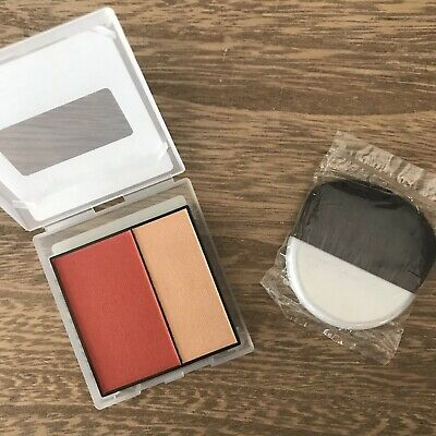 $11.99 • Buy Mary Kay Mineral Cheek Color Duo Spiced Poppy & Blush Brush | Coral, Highlighter