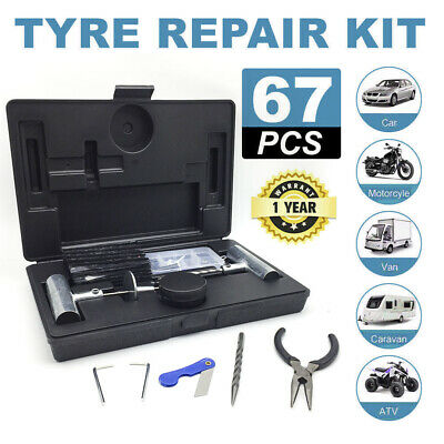 AU26.98 • Buy Repair Tyre Puncture Recovery 56PCS Kit Heavy Duty 4WD Offroad Plugs Tubeless