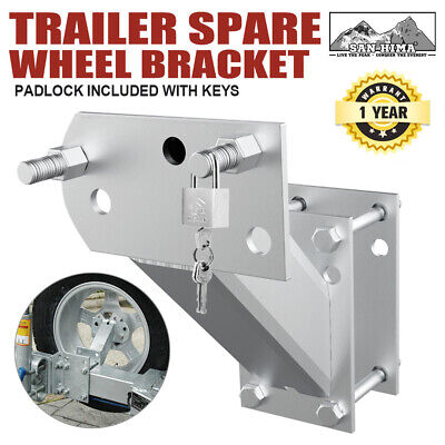 AU34.95 • Buy Spare Wheel Carrier Bracket Tyre Holder Galvanised Trailer Caravan Boat Lock