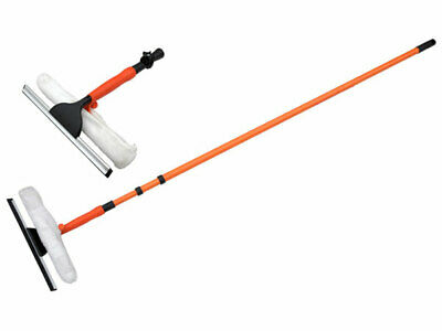 3.5m Telescopic Window Cleaner Conservatory Glass Cleaning Kit Squeegee Pole • 13.89£