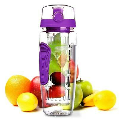 AU14.76 • Buy 1L Fruit Infuser Water Infusing Bottle Juice Infusion Detox Drink Lemon Cup MY