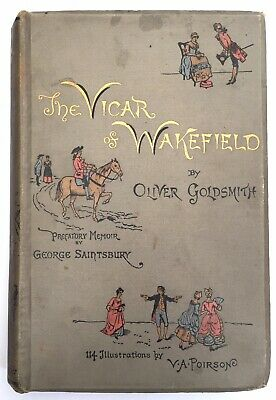 THE VICAR OF WAKEFIELD By Oliver Goldsmith (Hardback, 1886) Colour Illustrations • 19.95£