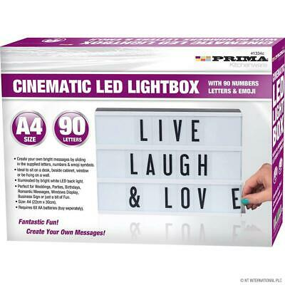 £8.99 • Buy A4 Cinematic Light Up Letter Emojis Box Led Sign Wedding Party