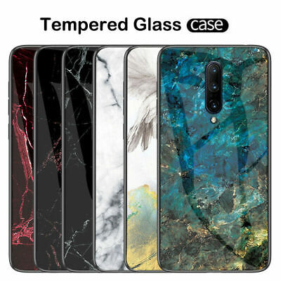 AU7.13 • Buy For OnePlus 5 5T 6 6T 7 7 Pro Marble Hybrid Case 9H Tempered Glass Hard Cover