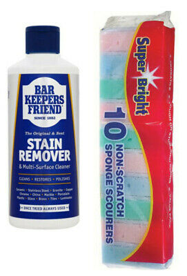 £4.68 • Buy Bar Keepers Friend Stain Remover Powder 250g Also Available Application Sponges