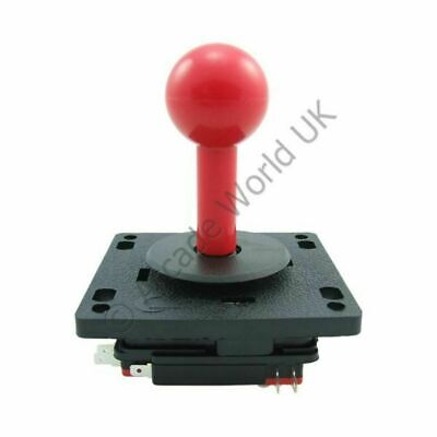 £4.80 • Buy Red Moulded Arcade Joystick - Dedicated 8 Way Joystick With Fixed Handle