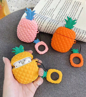 $ CDN6.05 • Buy For Apple Airpods Pineapple Bluetooth Headset Cover Wireless Soft Headphone Box