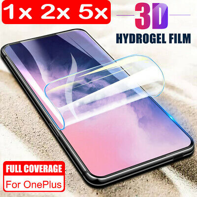 $ CDN1.79 • Buy For OnePlus 7 Pro Full Cover Hydrogel Clear Soft TPU Film Screen Protector Sl