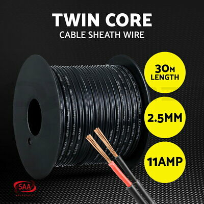 AU22.90 • Buy 2.5MM Electrical Cable Electric Twin Core Extension Wire 30M Car 450V 2 Sheath