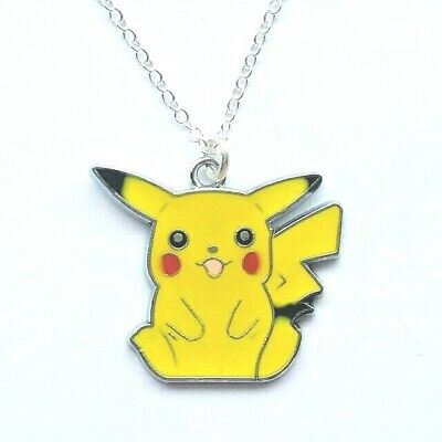 Pokemon Pikachu Charm Pendant Necklace 16  Chain Kids Jewellery Boys In Gift Bag • 2.99£