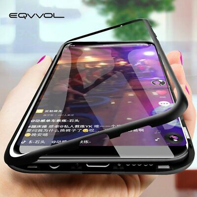 $ CDN10.64 • Buy For Samsung Galaxy S8 S9 S10 Magnetic Adsorption Metal Case Tempered Glass Cover