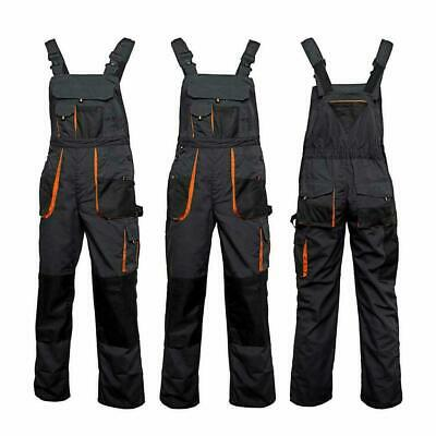£11.48 • Buy Overalls Mens Work Trousers- New Bib And Brace Knee Pad Dungarees Multi Pockets