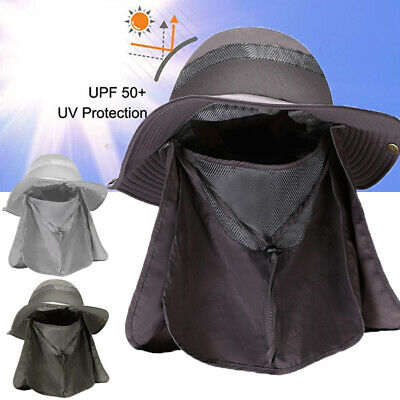 $16.67 • Buy 4  Wide Brim Outdoor Fishing Hat Sun Protection Neck Face Flap Cap For Men Women