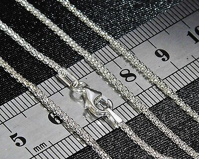 STERLING SILVER (925) 20 Inch LADIES POPCORN CHAIN 2.8g - 2mm - Strong & Durable • 8.95£