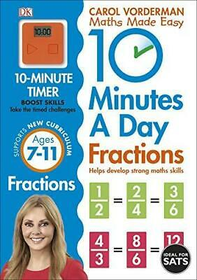£6.46 • Buy 10 Minutes A Day Fractions By Carol Vorderman Paperback NEW Book