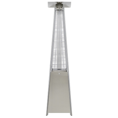 Dellonda Gas Pyramid Patio Heater Outdoor Garden Stainless Steel Wheels 13kW • 209.99£