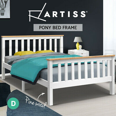 AU209.95 • Buy Artiss Bed Frame Double Full Size Wooden Timber Mattress Base Bedroom Kids