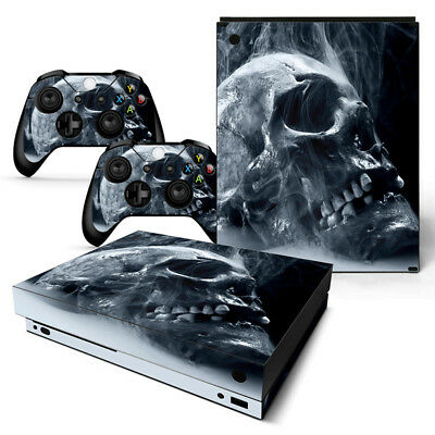 $13.97 • Buy Xbox One X Skin Console & 2 Controllers Skull Decal Vinyl Wrap