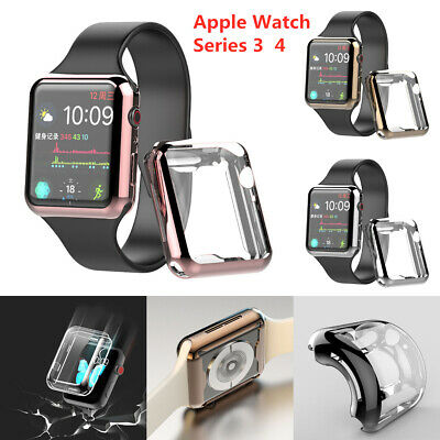 $ CDN2.61 • Buy For Apple Watch Series 3/4 Full Protective Case Screen Protector Cover 38-44mm