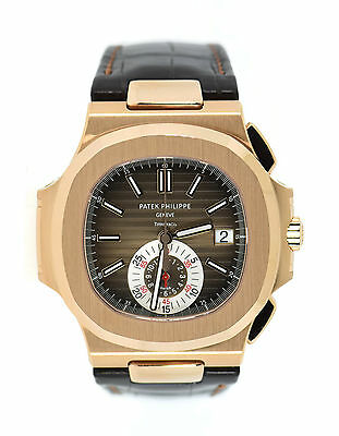 Patek Philippe Nautilus Chronograph Tiffany & Co 18K Rose Gold Watch 5980R-001 • 185,552.59£