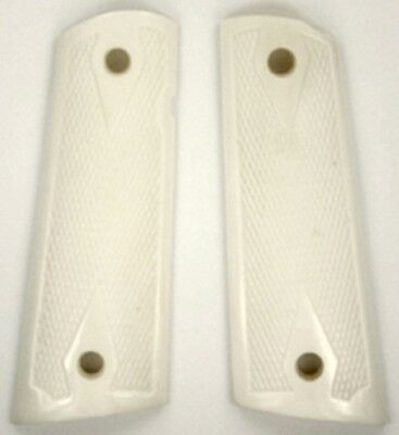 $33.98 • Buy Colt 1911 Full Size Grips Magwell Solid Buffalo Bone Checkered Ambidextrous