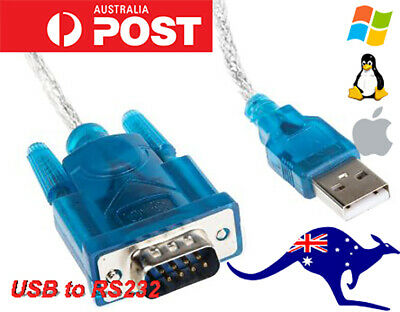 AU8.99 • Buy USB To 9-pin DB9 RS232 Serial Cable Adapter Converter Win10/8/7/XP 32/64bit