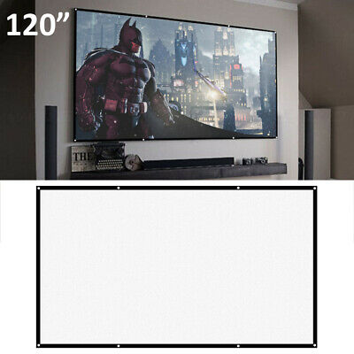 £8.19 • Buy Portable 120'' Inch Fabric Matte White Projector Projection Screen Home UK