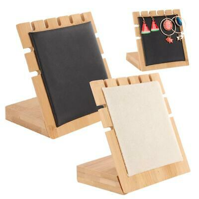 Earring Ear Studs Wooden Holder Organizer Jewellery Display Stand Show Rack Gift • 7.05£