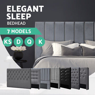 AU179.95 • Buy 20%OFF Bed Frame Headboard Double Queen King Single Size Head Bedhead Fabric