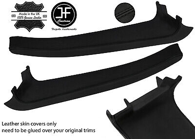 $ CDN239.14 • Buy Black Stitch 2x Door Sill Trim Top Grain Leather Cover For Lotus Elise S2 07-11