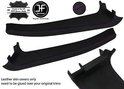 $ CDN254.46 • Buy Purple Stitch 2x Door Sill Trim Top Grain Leather Cover For Lotus Elise S2 07-11