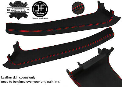 $ CDN254.46 • Buy Red Stitch 2x Door Sill Trim Top Grain Leather Cover For Lotus Elise S2 07-11