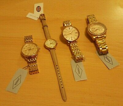 View Details FOSSIL Watches - Ladies - Various Styles Brand New - Rose Gold - Genuine Leather • 40.00£