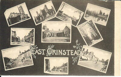 £2.75 • Buy Sussex: East Grinstead, Multiview - B/W - Unposted C.1910