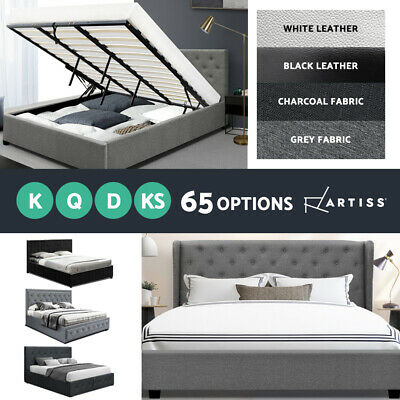 AU359 • Buy Artiss Bed Frame Single Double Queen King Size Gas Lift Base With Storage